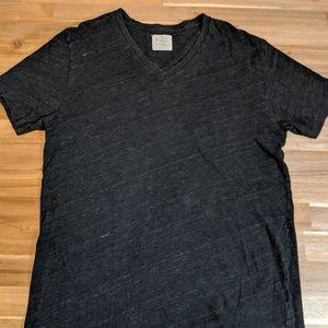 J.Crew tee-shirt, heathered gray v-neck